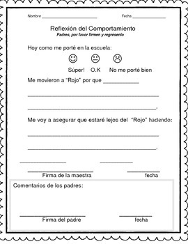 behavior -spanish comportamiento