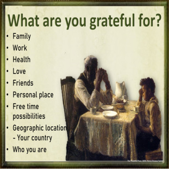 Thanks giving – just how thankful are you? ESL  adult and kids conversation