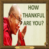 Thanksgiving –  How thankful are you? ESL  adult and kids conversation