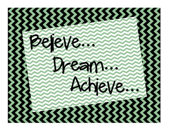 believe dream achieve