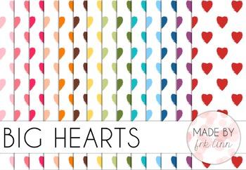 big hearts - digital paper
