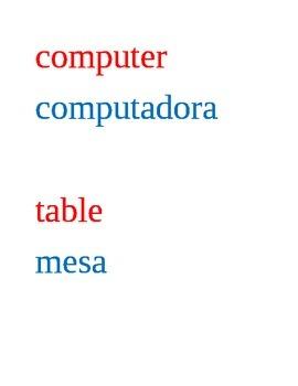 bilingual labels - 13 pages