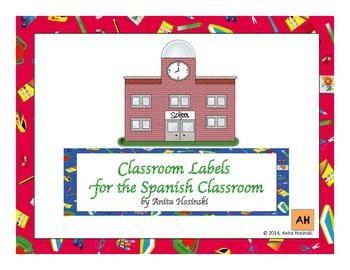 bilingual spanish classroom labels