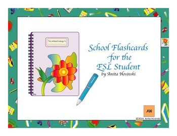 bilingual spanish flashcards for the ESL student school items
