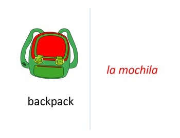 bilingual spanish flashcards for the Spanish student