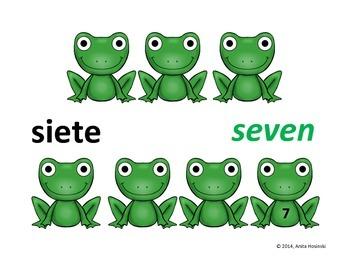 bilingual spanish numbers 1-100 slide show