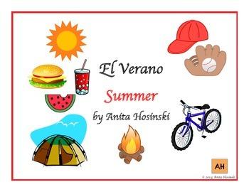 bilingual spanish posters summer theme