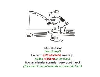 bilingual spanish reader present progressive tense