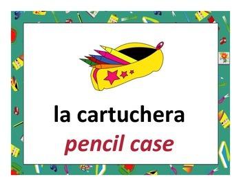 bilingual spanish school posters