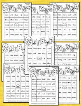 sight-words {BINGO-bundle BLACK ink}