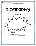 biography booklet