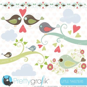 bird tweet clipart commercial use, vector graphics, digital clip art - CL426