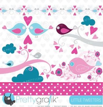 bird tweet clipart commercial use, vector graphics, digital clip art - CL431