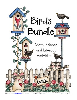 birds bundle: math, science and literacy activities