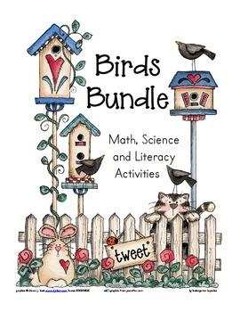 birds bundle: math, science and literacy activities