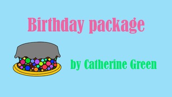 birthday: cake, hats and candles clipart package