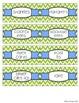 Editable Teacher Toolbox Labels - Blue and Green Chevron