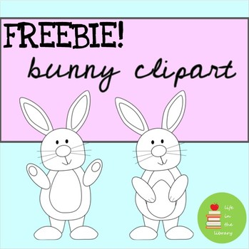 FREE black and white bunny clipart ~ Easter ~ rabbit ~ Spring ~ March ~ April