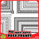 black and white digital frame page borders // 74 nesting .