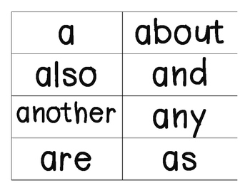 black and white word wall_grade one