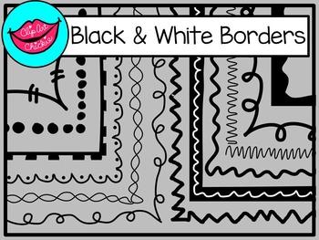 black & white doodle borders