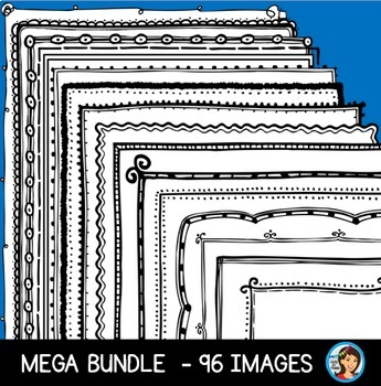 Creative Doodle Page Borders (Mega Bundle)