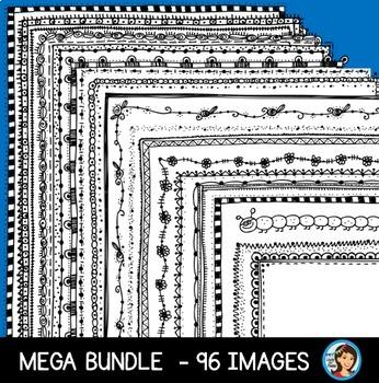 Doodle Frames Page Borders Bundle