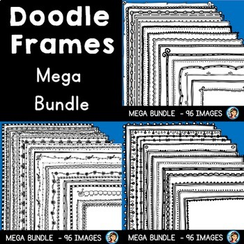 Creative Doodle Page Borders (Mega Bundle)