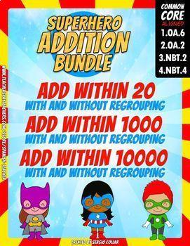Addition Bundle - Color by Code - Super Math - Volume 6 - Spanish Version