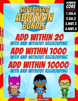 Addition Bundle - EDITABLE -Color by Code:Super Math- Volume 6 - Spanish Version