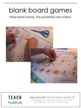 blank board games | bundle | teachmama.com