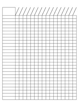 blank checklist/ grade sheet