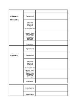 blank unit plan organizer