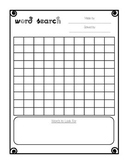 blank word search
