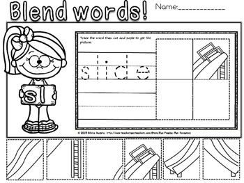 blends and digraphs picture sort