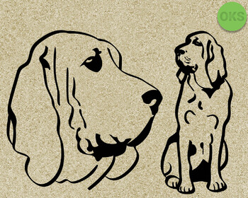 bloodhound SVG cut files, DXF, vector EPS cutting file instant download
