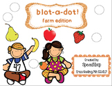 blot-a-dot - fruit edition!