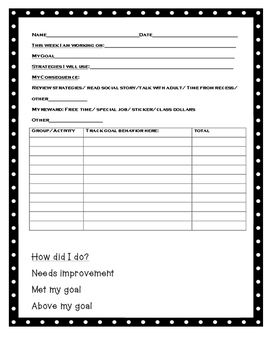 Data collecting for blurting/interrupting/out of seat/behavior change