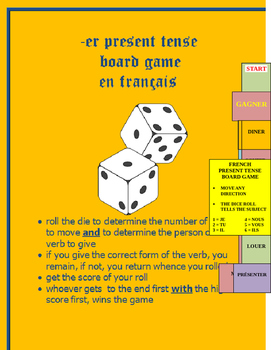 board game REGULAR ER PRESENT FRENCH