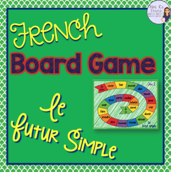 French future tense board game JEU DE VERBES - LE FUTUR SIMPLE