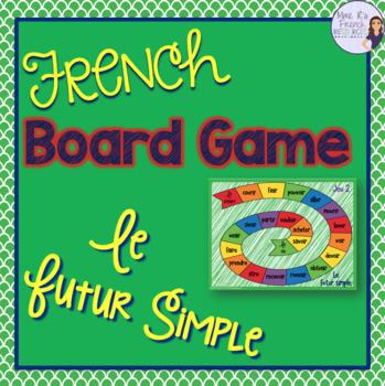 French future tense board game JEU DE VERBES - LE FUTUR SIMPLE
