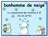 bonhomme de neige  (La comparaison des nombres à 10 Jeu de cartes)