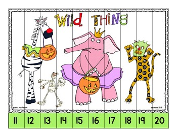 boo at the zoo: strip puzzles