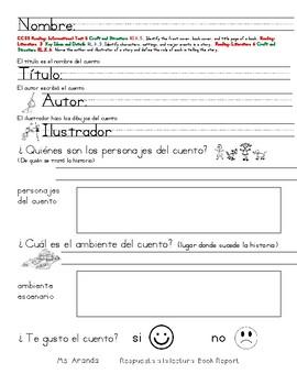 book report en español