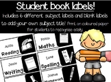 book subject labels editable