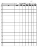 book tracker sheet