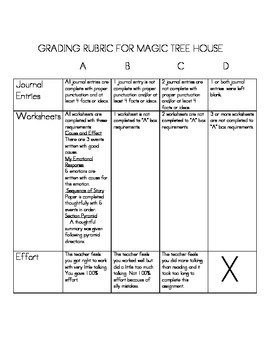 bookmark for Magic Tree House series