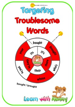 bought/brought - Targeting Troublesome Words Worksheets UK