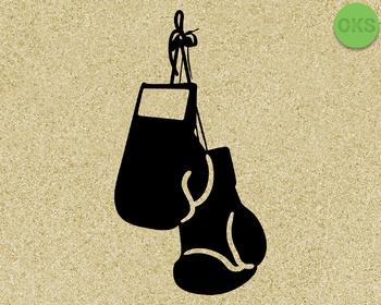 boxing gloves SVG cut files, DXF, vector EPS cutting file instant download
