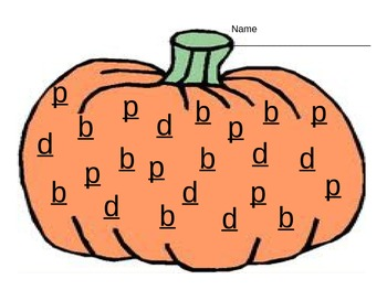 b,p,  and d confusion pumpkin
